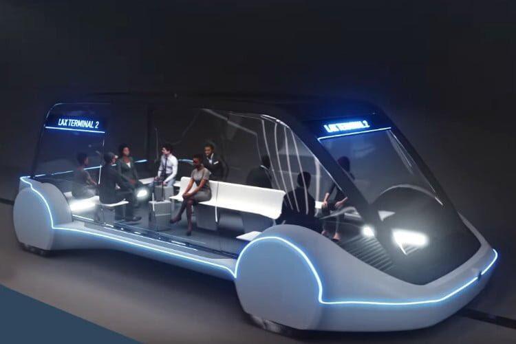Tesla shuttle pod render image 2019
